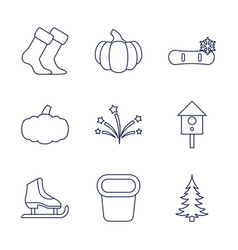 9 season icons vector