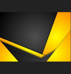 Abstract dark yellow corporate background vector