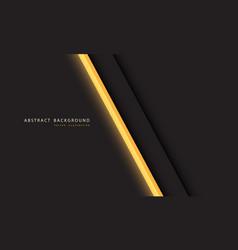 Abstract yellow light neon line slash on dark grey vector