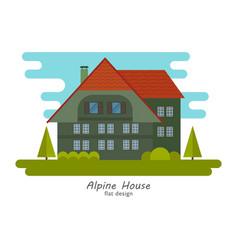 Alpine house vector