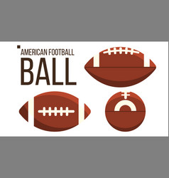 american football ball rugby sport vector image
