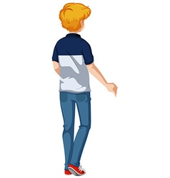 Back of man wearing jeans vector