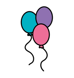 balloons air party icon vector image