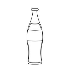Beverage cola soda carbonated drink bottle vector