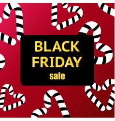 black friday sale poster with shiny black hearts vector image