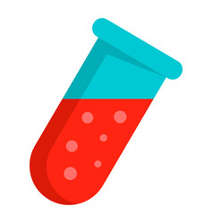 blood test tube icon flat style vector image