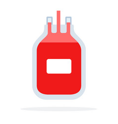 blood transfusion flat material design isolated vector image