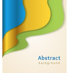 Blue and gold business background vector
