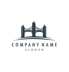 bridge logo vector image