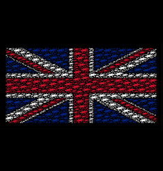 british flag pattern of barbed wire items vector image