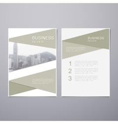 Business Review Brochure vector image