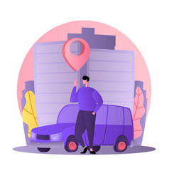 car business sharing service concept car rental vector image