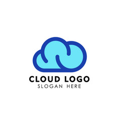cloud logo design template icon vector image