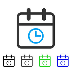 Day time flat icon vector