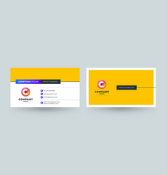 Double sided business card template layout vector