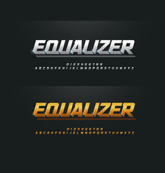 elegant silver and golden colored metal chrome vector image