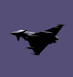 eurofighter typhoon vector image
