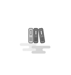 files web icon flat line filled gray icon vector image