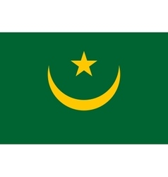 Flag of Mauritania correct proportions and colors vector image