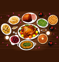 Food of thanksgiving dinner vector