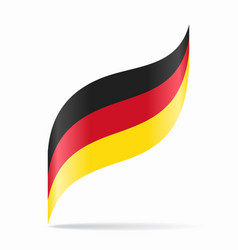german flag wavy abstract background vector image