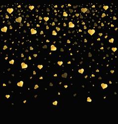 gold pattern of random falling vector image