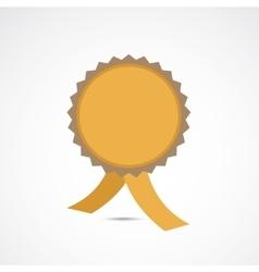 Golden championship medal vector