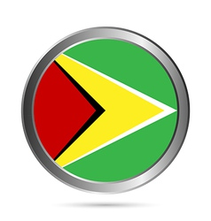 Guyana flag button vector image