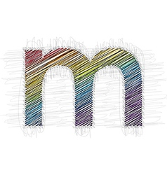 Hand drawn font LETTER m vector