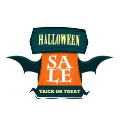 Happy halloween sale offer design template vector