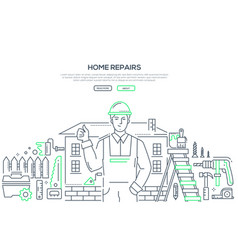 home repair - line design style vector image