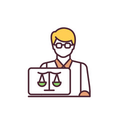 in-house counsel rgb color icon vector image