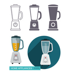 kitchen blender icons vector image