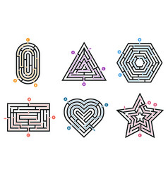 labyrinth conundrum searching way many ways vector image
