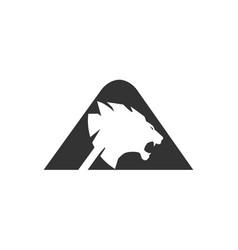 letter a lion head vector image