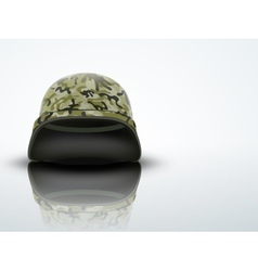 Light Background Military helmet with camo pattern vector image