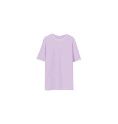 Lilac t shirt oversize t-shirt vector