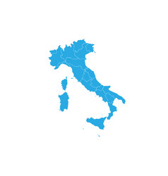 Map of italy high detailed map - italy vector