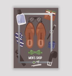 mens shop or store with accessories poster vector image