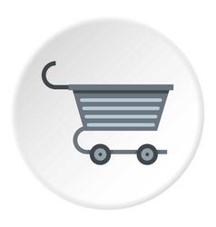 Metal trolley icon circle vector