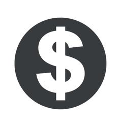 Monochrome round dollar icon vector image