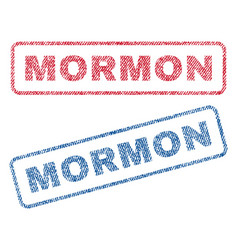 Mormon textile stamps vector