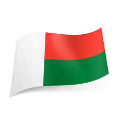 National flag of madagascar vertical white band vector