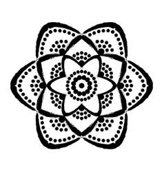 Painted flower dots mandala vector