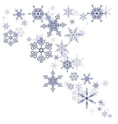 Pattern snowflakes vector