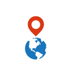 pin map graphic icon design template vector image