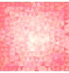 pink triangular background vector image