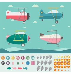 Plane Game Asset vector image