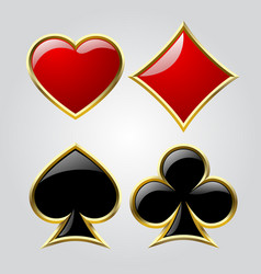 playing card symbols vector image