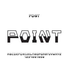 Point font alphabet vector